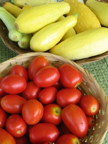 tomatoes and squash, great in salads, soups, sauteed, sauces
