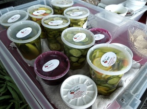 P & J pickled items. YUM